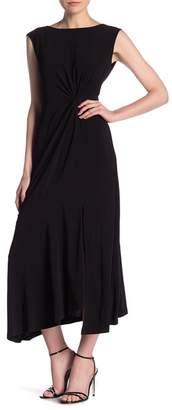 Gabby Skye Cap Sleeve Waist Belt Front Ruched Dress
