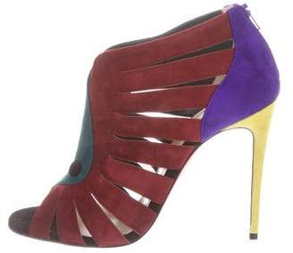 Christian Louboutin Suede Toot Mignonne 100 Booties w/ Tags