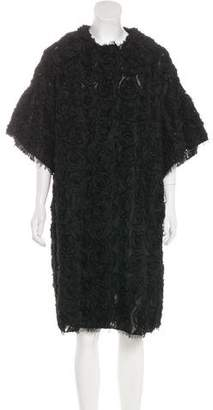 Dolce & Gabbana Oversize Rosette Coat