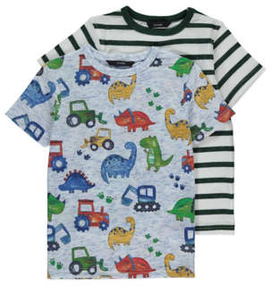 George Vehicle Print T-Shirts 2 Pack