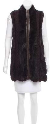 Belle Fare Fur Leather-Paneled Vest