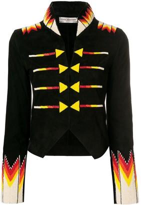Jessie Western cropped beaded military jacket
