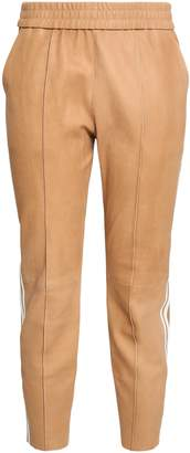 Sprwmn Cropped Leather Tapered Pants