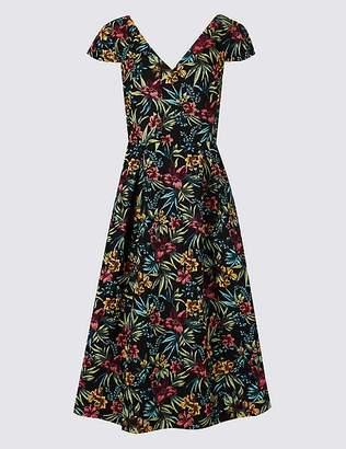 Marks and Spencer Floral Print Jacquard Prom Dress