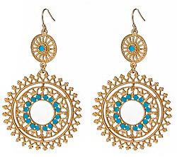 Blu Bijoux Turquoise Filigree Earrings