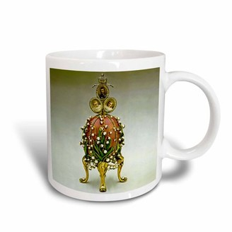 Faberge 3dRose Picturing Faberge? Egg Lilies Of The Valley, Ceramic Mug, 15-ounce