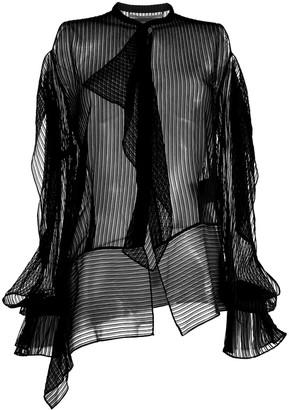 Roland Mouret frilled longsleeved blouse
