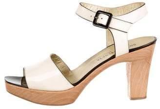 Bottega Veneta Patent Leather Ankle Strap Sandals