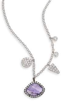 Meira T Diamond, Tanzanite & 14K White Gold Charm Necklace