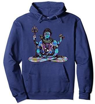 Psychedelic Trippy Vishnu Hindu God Meditating Hoodie