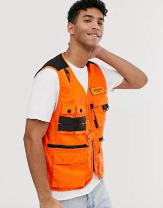 utility vest in orange