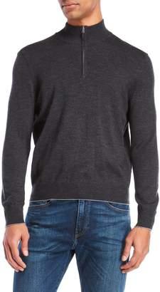 Thomas Dean Quarter-Zip Pullover Sweater