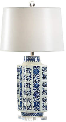Chelsea House Clinton Porcelain Table Lamp - Blue/White