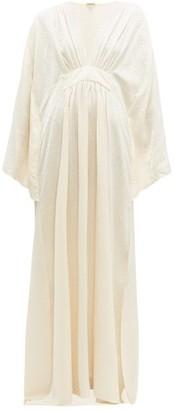 Johanna Ortiz I Want To Hold Your Hand Leopard Jacquard Dress - Womens - Ivory