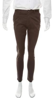Dolce & Gabbana Racer Flat-Front Pants