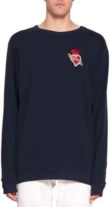 Amen Embroidered Cotton Sweatshirt