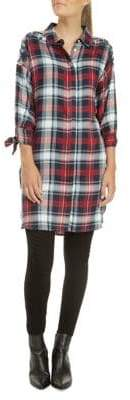 Dex Plaid Lace Shirtdress
