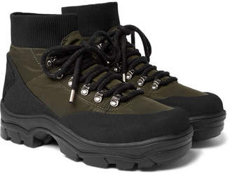 Moncler Clement Suede-Trimmed Shell Hiking Boots