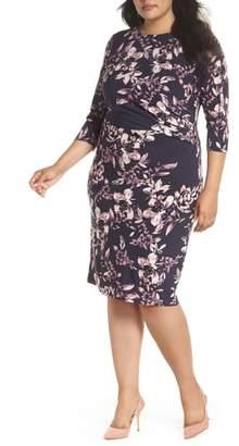 Eliza J Side Gathered Sheath Dress