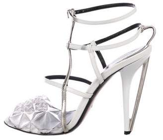 Fendi Patent Leather Ankle Strap Sandals
