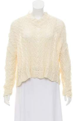 Christian Dior Mesh-Trimmed Long Sleeve Top