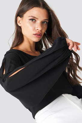 Rut & Circle Rut&Circle Amera open Sleeve Blouse Black