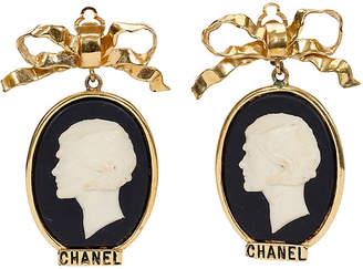 One Kings Lane Vintage 1970s Chanel Cameo Earrings
