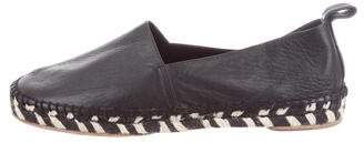 Proenza Schouler Leather Round-Toe Espadrilles