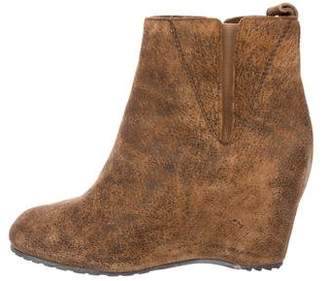 MM6 MAISON MARGIELA MM6 by Maison Martin Margiela Leather Wedge Ankle Boots