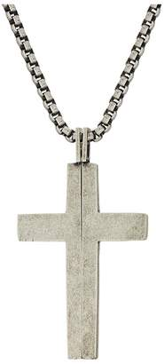 Steve Madden Splitting Cross Necklace with 18 Box Chain Necklace