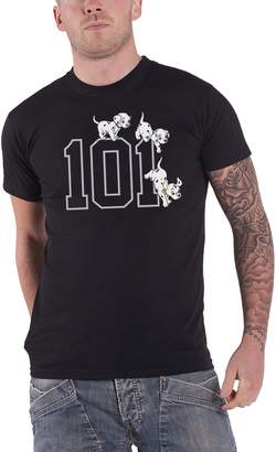 Disney 101 Dalmations T Shirt 101 Doggies logo new Official Mens