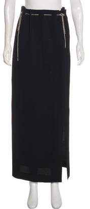 Chanel Chain-Trimmed Maxi Skirt