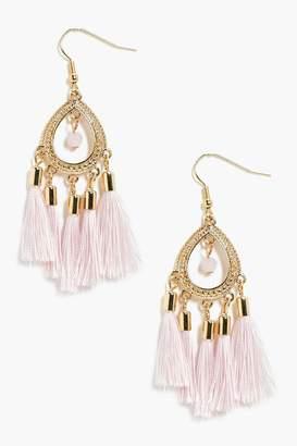 boohoo Boho Tassel Earrings