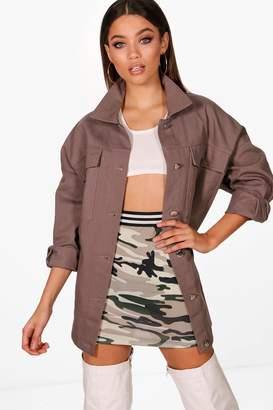 boohoo Oversized Cotton Twill Jacket