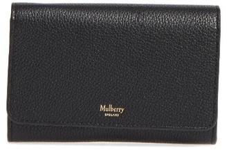 Women's Mulberry Medium Continental Wallet - Black $365 thestylecure.com