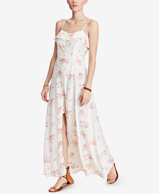 Denim & Supply Ralph Lauren Printed Cutout Maxi Dress $165 thestylecure.com