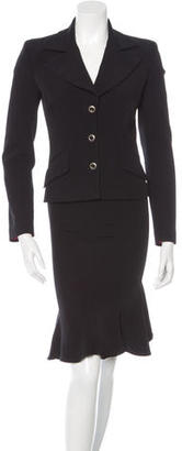 D&G Long Sleeve Single-Breasted Skirt Suit $75 thestylecure.com