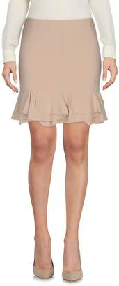 Gold Case Knee length skirts