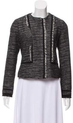 Vince Fringed Tweed Jacket
