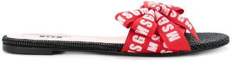 MSGM branded sandals