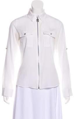 MICHAEL Michael Kors Zip-Up Long Sleeve Top