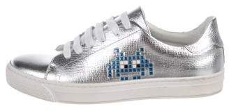 Anya Hindmarch Metallic Low-Top Sneakers