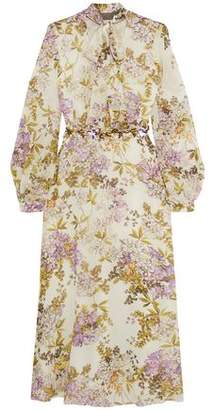 Giambattista Valli Embellished Floral-Print Silk Crepe De Chine Midi Dress