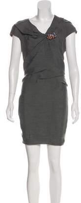 Paule Ka Embellished Mini Dress
