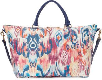 Neiman Marcus Ikat-Print Weekender Bag $105 thestylecure.com
