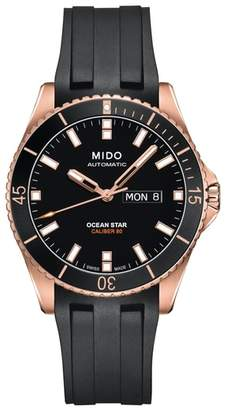 MIDO Ocean Star Automatic Rubber Strap Watch, 42.5mm