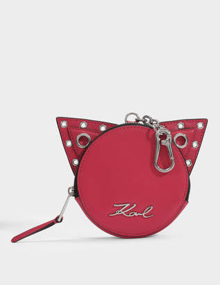 Karl Lagerfeld Rocky Choupette Coin PUrse in Ladybird Smooth Calf Leather