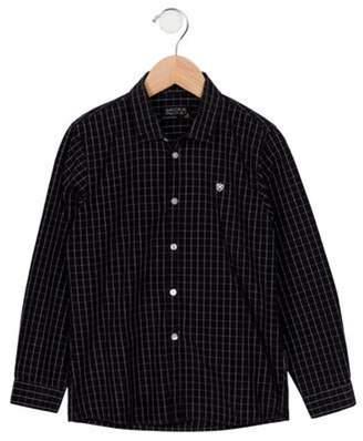 Mayoral Boys' Patterned Button-Up Shirt black Boys' Patterned Button-Up Shirt