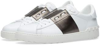 Valentino Open Low Top Metallic Sneaker