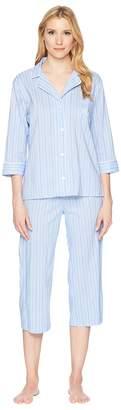 Lauren Ralph Lauren Classic Woven Capri PJ Women's Pajama Sets